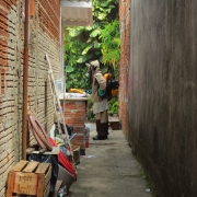 A worker in Brazil sprays insecticides into a house to kill Aedes aegypti mosquitoes, which carry the Zika virus. Photograph courtesy of Marcia Castro