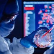 Medical Bioengineer Working On Development Vaccines 2019-ncov Coronavirus In Pharmacy Laboratory. Bl